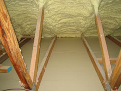 Attic insulation incorrectly installed - Guelph Home Inspector