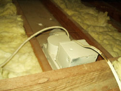 Bathroom vent directly to attic - Cambridge Home Inspector